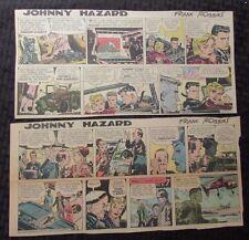 "1955/63 Johnny Hazard by Frank Robbins Newspaper Strips Vg/Vg+ 9.5x14 & 14x6.5"""