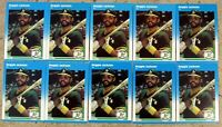 1987 - Fleer #U-49 - Reggie Jackson Oakland A's - HOF - 10ct Card Lot