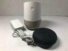 Google Home and Home mini Smart Speaker Google Assistant - White Charcoal Bundle