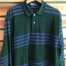 New listing VTG 90s Green/Purple Polo Ralph Lauren Pony Logo Stripe L/S Rugby Shirt L