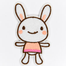 Bunny Rabbit Cute Embroidered Patch Iron or Sew on Motif Baby Kids