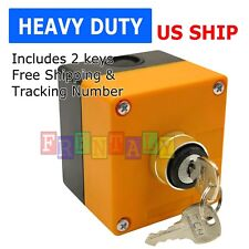 Boxed Cased Heavy Duty Onoff Key Switch 22mm 78 With 1 Hole Switch Box 2 Key