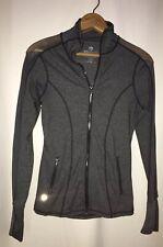 90 Degree by Reflex XS Gray Mesh Sleeve Full Zip Thumbhole Sleeve Sport Jacket
