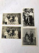 Vintage Family Photos Old Pictures Parents Kids Portrait Children Lot Set Of 4