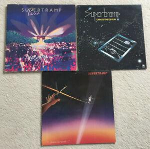 3 LP's - Supertramp - Live Paris, Crime Of The Century, Famous Last ..- Sammlung