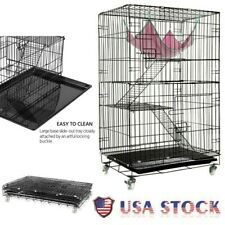 Pet Small Animal Cage Ferret Cat Kitten Chinchilla Playpen 3 Tier Large Wire New
