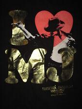 I LOVE MICHAEL JACKSON CIRQUE DU SOLEIL T SHIRT Immortal World Tour MJ Black LG