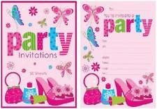 Tween Girl Padded Invitations - 20 sheets