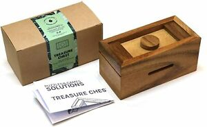 WOODEN PUZZLE BOX - MAGIC TRICK - ADULT PUZZLE