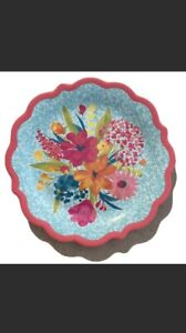 The Pioneer Woman Sunny Days Coral Floral Melamine Dinner Plates  Set Of 4