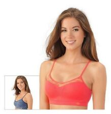 3215286a96 Lily of France Bras 2-pk Dynamic Duo Comfort Bralette 2171941 Pink Blue 2XL  XXL