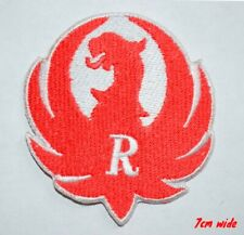 Ruger Bird Firearms Guns Hunting Iron on Sew on Embroidered Patch#679