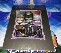 Disney WonderGround VILLAINS Group Portrait Print Becket-Griffith 2020 SIGNED