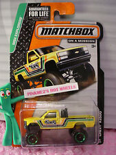 2015 Matchbox #88 CHEVY K1500 4x4 pickup truck☆Yellow K-1500☆MBX EXPLORERS☆