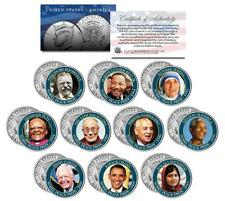 NOBEL PEACE PRIZE Colorized JFK Half Dollar 10-Coin Set MLK Gorbachev Dalai Lama
