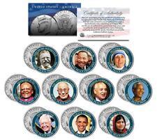 NOBEL PEACE PRIZE Colorized JFK Half Dollar 10-Coin Set MLK Gorbachev Dalai Lama