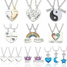 Best Friend Necklace Women Crystal Heart Tai Chi Crown Best Friends Forever Neck