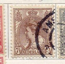 Países Bajos 1898-1919 rápida de los problemas Fine Used 7.5 C. 129465