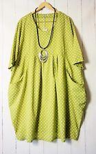 Moonshine Kleid Ballonkleid 50 52 54 Grün Lagenlook Pünktchen Dots Sommer