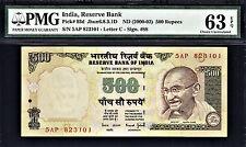 India 500 Rupees ND (2000-02) Bimal Jalan Letter C Pick-93d CH UNC PMG 63 EPQ