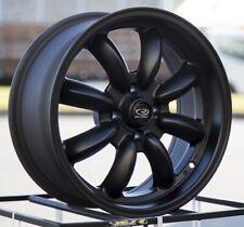 17x7.5 Rota RB 4x100 +45 Flat Black Wheels (Set of 4)