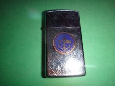 Year 1992 Zippo Slim Lighter With US NAVAL OFFICER CANDIDATE SCHOOL Emblem