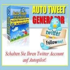 Auto tweet generador-encienda su twitter-acc. en autopilot-Master reseller