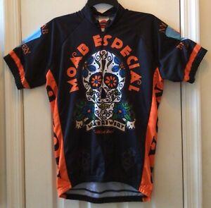 Moab Especial Brewery Cycling Jersey Large - Zipper Back Pockets - Sugar Skull