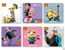 12 Despicable Me 2 Stickers Kid Reward Party Goody Loot Bag Filler Favor Supply