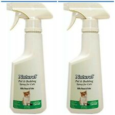 2 PACK Natural Chemistry De Flea Pet & Bedding Spray Cats