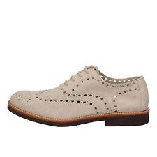 scarpe uomo DI MELLA 43,5 classiche beige camoscio AD233-H