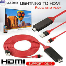 LOT 1080P Lightning to HDMI TV AV Adapter Cable for iPhone 8 Plus 11 Max XR iPad