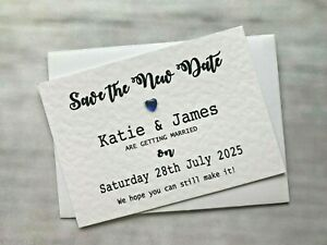 Personalised Wedding Change of Date Save The New Date Postponed Magnet COD78k