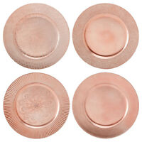 Set Of Rose Gold Charger Plates Dinner Place Settings Wedding Party Dine Serve
