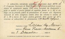 Autografo dello Storico Mario Lizzani I° Congresso Nazionale Studi Romani 1928