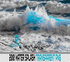 200 WATER WAVES SPLASH TRANSPARENT PNG PHOTOSHOP OVERLAYS BACKDROPS BACKGROUNDS