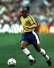 Roberto CARLOS SIGNED Autograph BRAZIL 10x8 Photo AFTAL COA World Cup WINNER