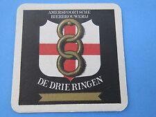 Beer Bierdeckel Coaster: Bierbrouwerij DE DRIE RINGEN ~  Amersfoort, NETHERLANDS
