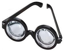 Black Frame Plastic Nerd Doctor Novelty Big Bug Eye Bottle Rim Glasses Specs