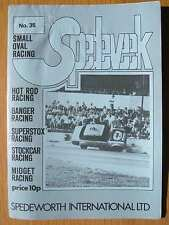 Stock Car Racing Programme Spedeworth Spedeweek No 35 September 1975 Wisbech