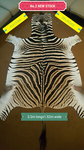 African Authentic / Genuine Tanned Zebra Skin / Hide / Rug / Clearance Sale