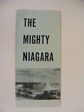 Vintage 1950's The Mighty Niagara Brochure