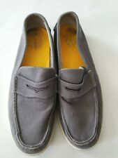 Men's Cole Haan Canvas Gray Slip-on Loafer Size 12 M