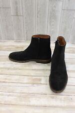 Frye Chris Inside Zip Suede Ankle Boots, Men's Size 9.5 M, Black