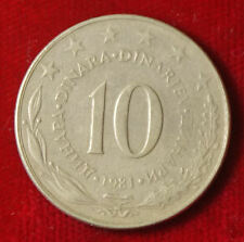 Münze Coin Jugoslawien Jugoslavija 10 Dinar Dinara 1981 (G1)