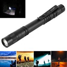 Cree XPE-R3 LED Flashlight Handheld Mini Pen Light Torches Clip Lamp Portable