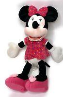 "Minnie Mouse Disney Large Plush 20"" Pink Polka Dot Dress Bow Stuffed Toy"