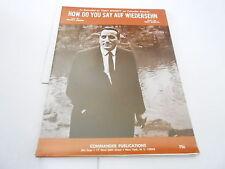 1967 vintage NOS sheet music - HOW DO YOU SAY AUF WIEDERSEHN - TONY BENNETT