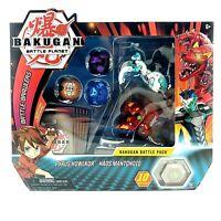 BAKUGAN Battle Brawlers Battle Planet RED B400 FANGZOR 2 Bakucores /& CARDS