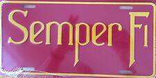 SEMPER FI  Premium Embossed License Plate (LP-1109-160)